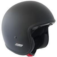 Casco Demi-Jet Open Cara Cgm 170A Evoke Negro Mate para Moto y Scooters Legal