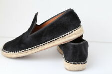 Celine Paris Pony Hair Black Espadrilles Slip On Shoes Size 37