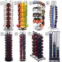Revolving Rotating Capsule Coffee Pods Holder Tower Stand Rack Lot