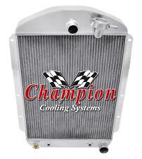 3 Row Western Champion Radiator for 1937 Chevrolet Master Car V8 Conversion