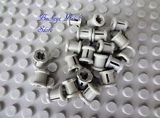NEW Lego Light GRAY TECHNIC BUSH - LOT/20