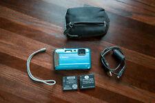 Panasonic LUMIX DMC-TS25 Digital Camera (Blue), 2 batteries, cord, case, EUC