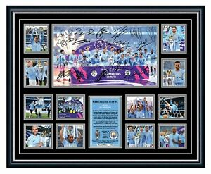 MANCHESTER CITY FC 2021 EPL WINNERS SIGNED LIMITED EDITION FRAMED MEMORABILIA