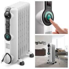 DeLonghi Comfort Temp Electric Oil Filled Full Room Radiant Heater Light Gray