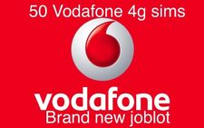 50x VODAFONE PAY-G sim. Wholesale joblot. 3 in 1. Bulk Quantity.