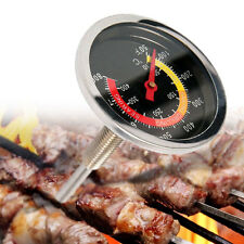 Barbecue Thermometer Gauge Stainless Steel BBQ Smoker Grill Temperature  New.