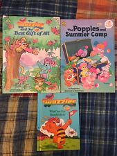 Vintage WUZZLES & Popples children's book lot 1984-1986 hardcover