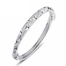 925 Sterling Silver Bangle Star Bracelet Charm Ladies Womens Jewellery Best Gift