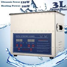 3L DIGITAL STAINLESS STEEL ULTRASONIC CLEAN CLEANER ULTRA SONIC BATH TIMER HEATE