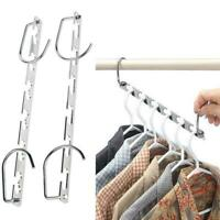 Space Saver Saving Wonder Metal Magic Hanger Clothes Closet Organizer Hook Super