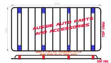 Open Ends Alloy Roof Rack 3000X1464mm 4 MERCEDES BENZ SPRINTER MWB Van 2007-On