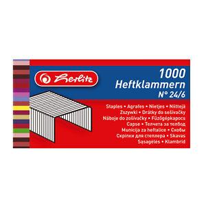 1.000 LEITZ Heftklammern 24//6 verzinkt 5570 aus Stahldraht 12,8 x 6 mm