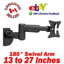 "13-27"" LCD TV Monitor Wall Mount ±15° Tilt 180° Swivel arm 15 18 19 21 22 24 26"""