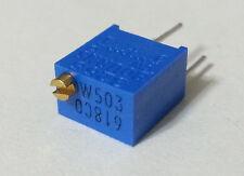 "Trimpot Potentiometer 50K 1/4"" Square 3266 Bourns 3266W-1-503LF Buy2Get1FREE NEW"
