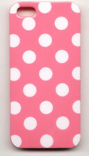 iPhone SE iPhone 5 5S Case Cover - Polka Dot - White on Pink