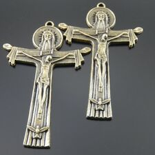 Antiqued Style Bronze Tone Alloy Cross Pendant Charm 50*34mm 8PS HOT SALES 02758