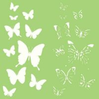 """Kaisercraft STENCIL 6x6"""" Designer Template - Butterflies Layered Butterfly Ink"""