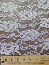"Vintage Lace Fabric Floral Design  60"" Wide White 17yds  bridal wedding"