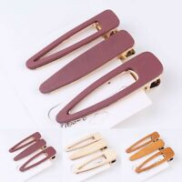 Geometric Acrylic Hair Clips Hollow Out Wooden Hairpin Snap Barrette Girls Women
