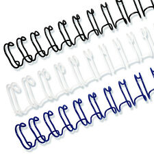 """3/8"""" 3:1 Twin Loop Wire O Binding Spines-100/pack, Black, White, or Navy"""