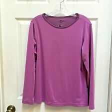SunDay Afternoons size XL Top Purple Cocona fabric Long Sleeve Sun Shirt