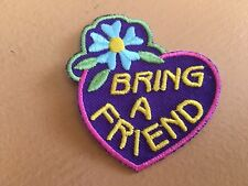 Girl Scout Patch - Bring a Friend - New - Qty 1 - v2
