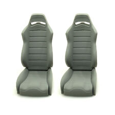 2PCS 1/10 Scale RC Rubber Seats Chair For Axial Wraith Rock Crawler Truck Gray