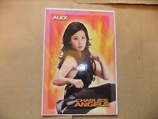 CHARLIE'S ANGELS DVD POSTCARD TRADING CARD LUCY LIU MOVIE UK HMV EXCLUSIVE