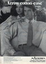 Publicité 1980  Chemises ARROW pret à porter vetement collection mode