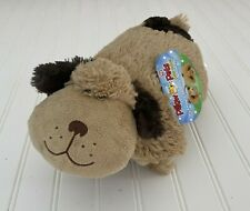 """Snuggly Puppy Pillow Pets Pee Wees 11"""" Plush Toy Stuffed Animal With Tags Brown"""