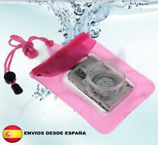 Funda acuatica rosa camara digital bolsa submarina acuatica, movil psp iphone