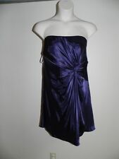 Davids Bridal Dress Plus Size 26 Lapis Purple Knot Detail Strapless F15128 NWT