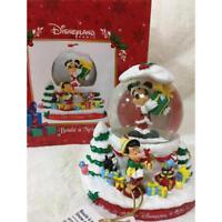 Very Rare!! Disneyland Paris Limited Snow Globe Xmas New From Japan F/S #1