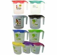 Quality Plastic 1Litre Multi Purpose Water Jug with Lid For Picnic Party Kitchen