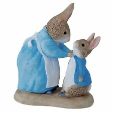 Beatrix Potter Peter Rabbit & Mrs Rabbit Mini Figurine