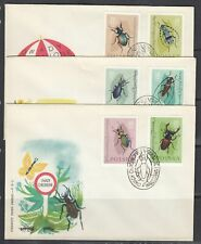 Poland Scott 1029-40 FDC - Insects