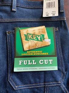 Men's Key logger dungaree 48x30 full cut Jeans
