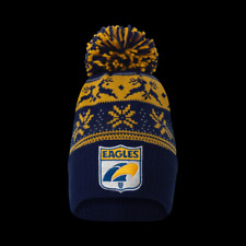 West Coast Eagles Official AFL Adults Snowflake Beanie Mens Ladies Winter