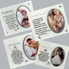 Photo Frames with message Glass Sentimental gift for Anniversary,family,friends