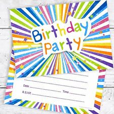Kids Birthday Party Invitations - Childrens Invites - A6 Postcard Size (Pack 10)