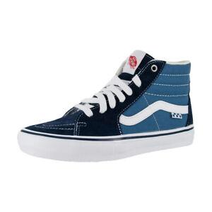 """Vans """"Skate Sk8-Hi"""" Sneakers (Navy/White) Skate High-Top Shoes"""