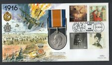 KGV British War REPLICA Medal 1999 GB Stamp Cover Year 1916 WW1 World War I
