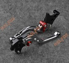 NTB Gray brake clutch levers for Honda CBR1100XX / BLACKBIRD 97-2003