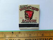 The Original Bucket Of Blood Saloon Unused Matchbook Virginia City Nv