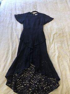 Rebecca Vallance Navy Lace Dress