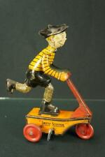 VINTAGE 1930s MARX TOYS SMITTY SCOOTER TIN WIND UP TOY  COMIC CHARACTER
