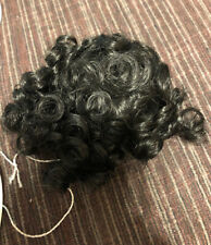 """Lot Of 2 Doll Wig Heather Size 5""""-6� Color Black Modacrylic By Playhouse/Kemper"""