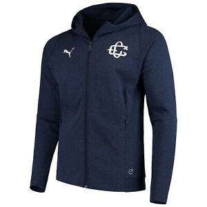 PUMA Chivas Official Navy Casuals Hooded Jacket Peacoat Heather