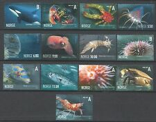 ˳˳ ҉ ˳˳NO05 Norway Norge Complete sets 2005-07 different Fishes Whale Crabs