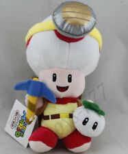 "Super Mario Treasure Hunting Miner 8"" Stuffed Animal Toad Plush Soft Toy Gift"